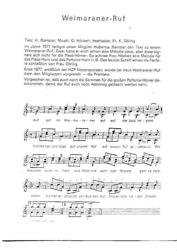 weimaraner-ruf (Andere)